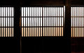 Paper Window Of Old Japanese Samurai House Stock Photos - 26372733