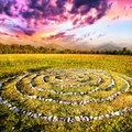 Stone Spiral Royalty Free Stock Photography - 26383827