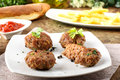 Meatballs With Garlic, Parsley And Onion Stock Photo - 26383940