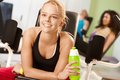Happy Girl Resting At The Gym Stock Photo - 26387120