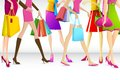 Ladies Going For Shopping Stock Image - 26390851