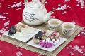 Chinese Traditional Snacks With Tea Stock Photos - 26393653