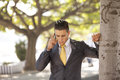 Businessman Talking At His Cellphone Stock Photography - 26397422