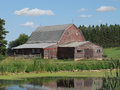 Old Wooden Farm Barn In The American Prairie. Stock Photography - 26403982