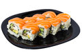 Maki Sushi With Salmon. Royalty Free Stock Images - 26405269