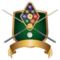 Nine Ball Emblem Design Shield Royalty Free Stock Image - 26405916