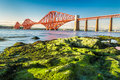 Coast At Low Tide Near The Firth Of Forth Bridge Stock Photography - 26406472