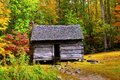 Log Cabin In Fall Royalty Free Stock Photos - 26413478