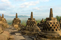 Borobudur Temple Stupa Row In Indonesia Stock Images - 26417824