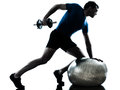 Man Exercising Weight Training Workout Fitness Stock Image - 26424391