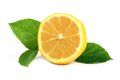 Fresh Lemon With Leaves Royalty Free Stock Images - 26426609