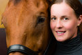 Woman And Horse Stock Photos - 26430673
