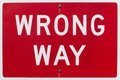 Wrong Way Sign Stock Images - 26434494