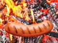 Sausage On A Fork. Stock Photo - 26449050