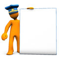 Police Mannequin Holding Board Royalty Free Stock Image - 26451806