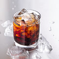 Glass Of Cola And Ice Stock Photography - 26452202