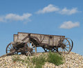 Old Wooden Horse-drawn Farm Wagon. Stock Photography - 26453872