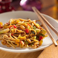 Spicy Thai Noodles With Chopsticks. Stock Photography - 26454332
