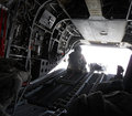 Inside Of A Military Chopper In Afghanistan Royalty Free Stock Image - 26457306