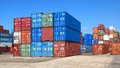 Freight Containers In The Le Havre Port. Royalty Free Stock Images - 26463959