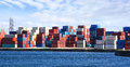Freight Containers In The Le Havre Port. Stock Photos - 26465013