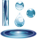 Water Droplet Glossy Surface Glass Royalty Free Stock Image - 26465446