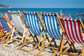 Colorurful Sunbeds On The Beach Royalty Free Stock Photos - 26465968
