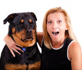 Me, Excited! Dog..not So Much. Stock Images - 26471914