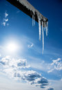 Icicles On Roof Royalty Free Stock Images - 26473029