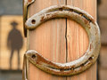 Lucky Horseshoes In Front Of Western Bar Stock Images - 26474624