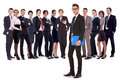 Man Welcoming You To His Business Team Stock Image - 26477961