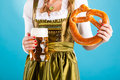 Young Woman In Traditional Clothes  Or Dirndl Stock Photography - 26486942