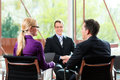 Business - Job Interview With HR And Applicant Stock Image - 26487061