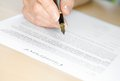 Signing A Contract With Fountain Pen Stock Photography - 26487762
