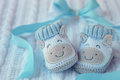 Shoes For Newly Born Baby Boy Stock Images - 26488414