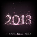 2013 Happy New Year Greeting Card. Royalty Free Stock Photography - 26490547