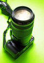 A Digital SLR With A Telephoto Royalty Free Stock Photography - 2653557