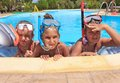Three Girls In The Swimming Pool Royalty Free Stock Images - 26508059