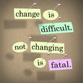 Change Difficult Not Changing Fatal Royalty Free Stock Photos - 26510118