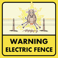 Electric Fence Sign Stock Photography - 26511562