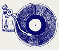 Record Player Vinyl Record Royalty Free Stock Image - 26513716