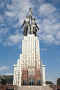 Monument Worker And Kolkhoz Woman Royalty Free Stock Photo - 26515215