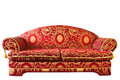 Red Sofa Isolated Royalty Free Stock Photography - 26523417