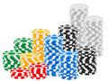 Casino Chips Stack Royalty Free Stock Image - 26526356