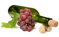 Wine Bottle And Grapes Stock Photos - 26528383