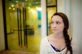 Young Woman Waiting In Front Of Hotel Door In Asia Royalty Free Stock Photos - 26529728