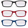 Eyeglasses – Black, Red And Blue Royalty Free Stock Photography - 26531567