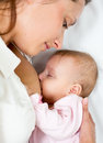 Close-up Portrait Of Suckling Baby Infant And Mom Royalty Free Stock Photography - 26533977
