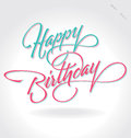 Happy Birthday  Hand Lettering (vector) Royalty Free Stock Photography - 26541357