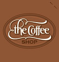 The Coffee Shop  Hand Lettering (vector) Stock Images - 26541374